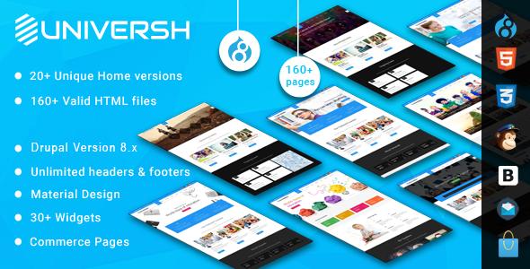 Universh - MultiPurpose Drupal 8 Theme - http://themesparadise.com/universh-multipurpose-drupal-8-theme/