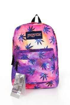 Palm tree pink and purple galaxy Jansport | Jansports