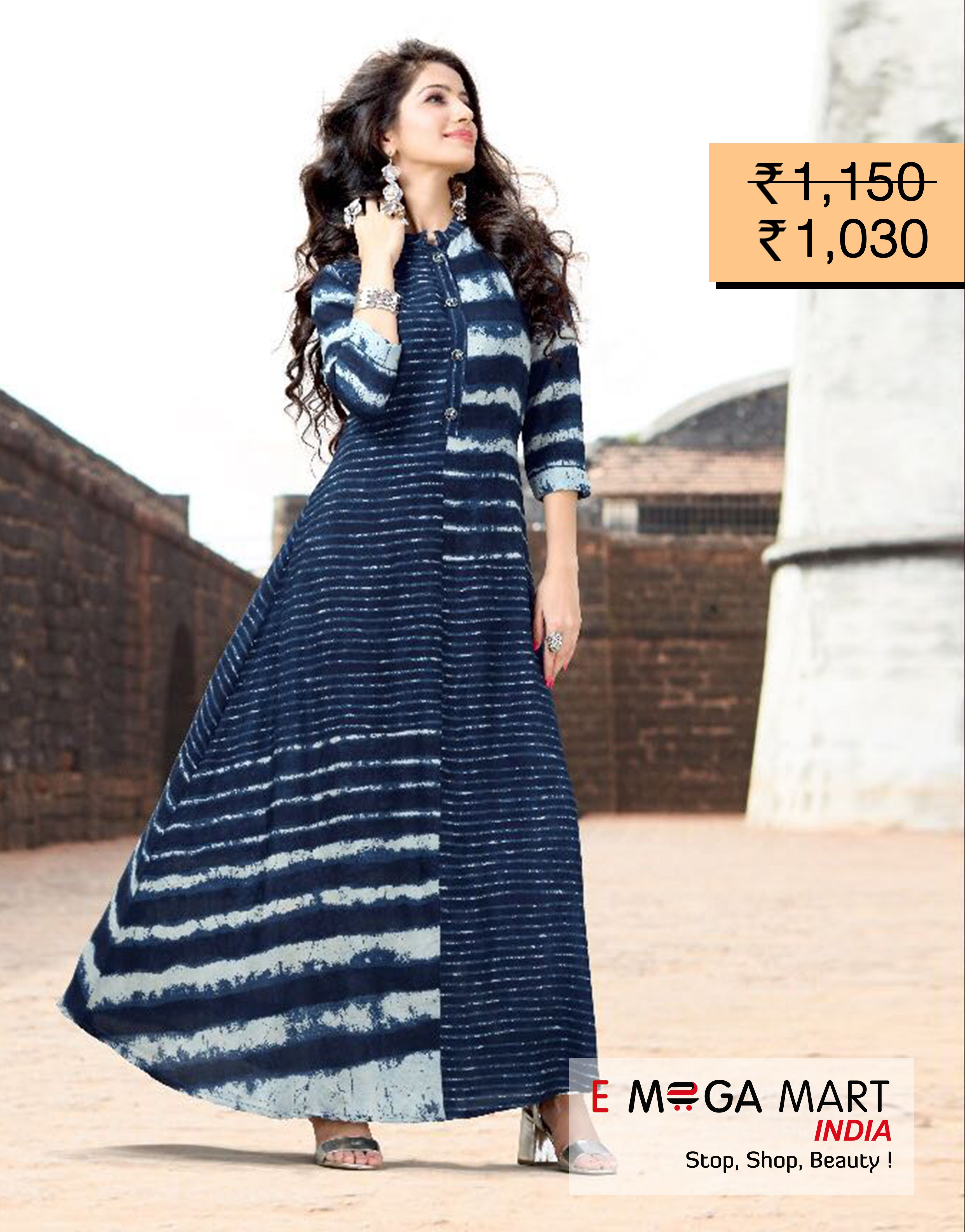 6ce22e000e Have a look at the exclusive collection of designer Kurtis. Buy Fancy &  Stylish