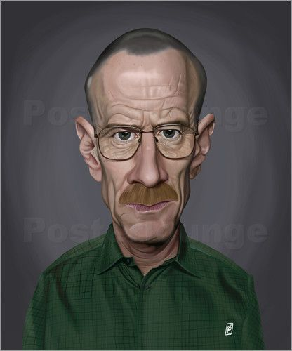 Poster Bryan Cranston art | decor | wall art | inspiration | caricature | home decor | ideas | gift