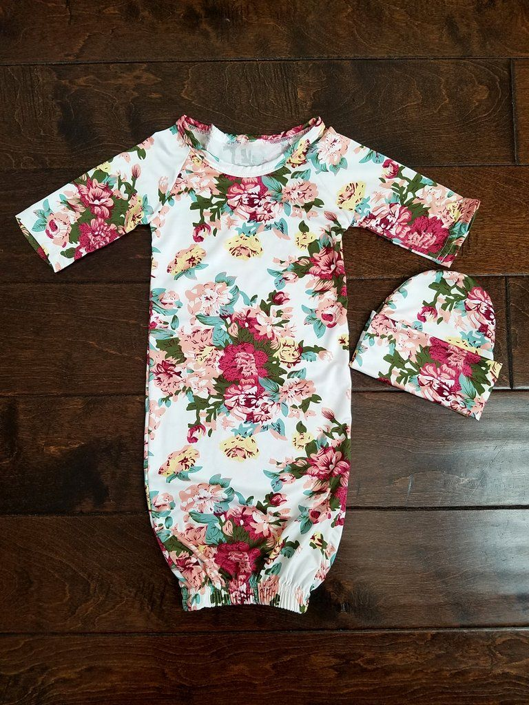 Scarlett Newborn Gown Coming Home Outfit Girl Baby Girl
