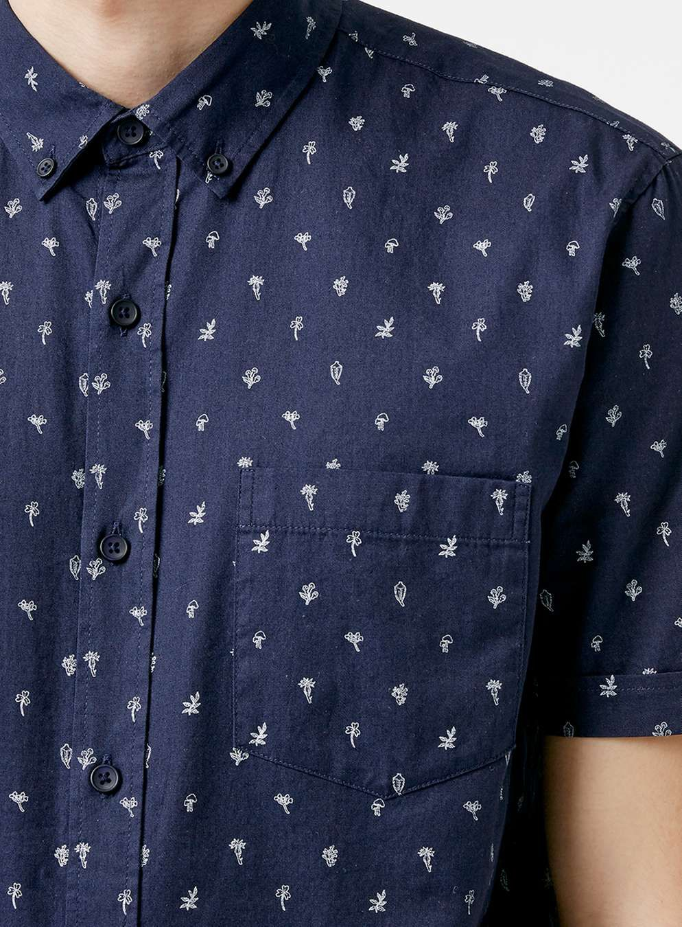 6755ea71 Indigo Seed Print Short Sleeve Casual Shirt - Men's Shirts - Clothing -  TOPMAN