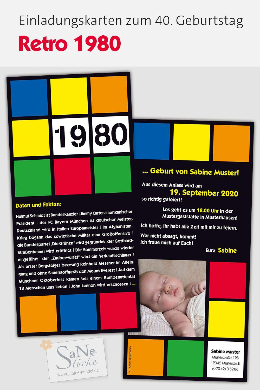 80er Party Einladungen 80er Party Geburtstag