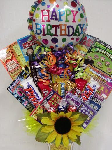 Lottery Ticket Candy Bouquet4000 Birthday Gift Baskets Presents 19th Gifts
