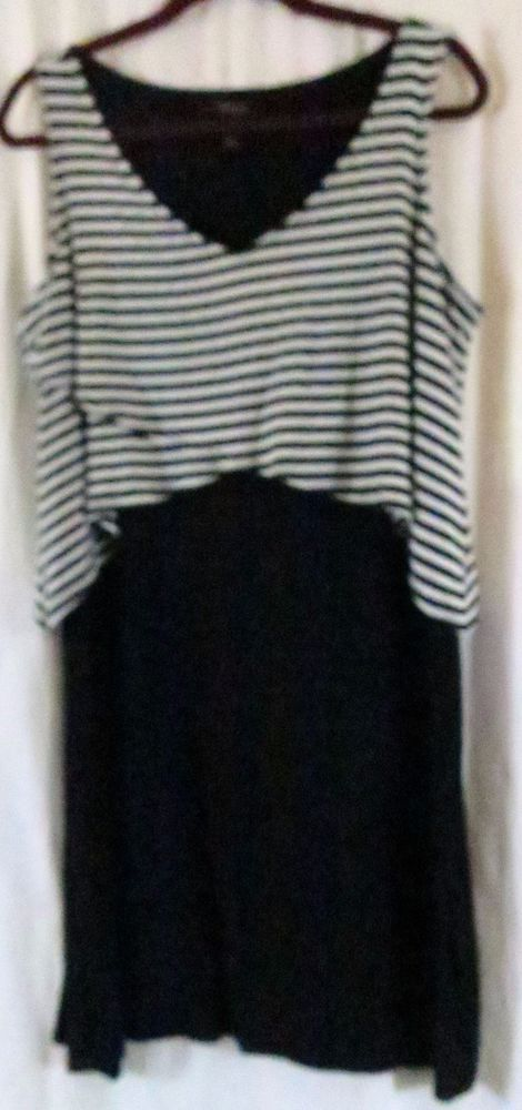 b6b42db4c14101 Style   Co OX Dress Black White Stripes Knee high wear to work  Styleco   SheathDress  Work