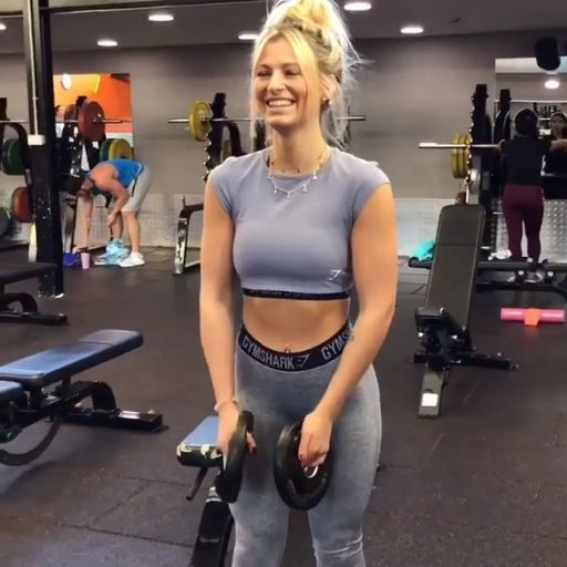 Were workin up to with Meggan Grubb! Try these Lateral Raises with a Static Hold and pump it up! #Gy...