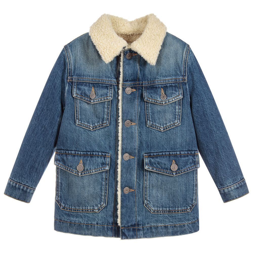 668c2a2ef Boys Cotton Denim Coat for Boy by Gucci. Discover the latest ...