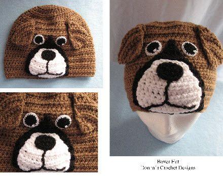 Boxer Hat Crochet Pattern Pinterest