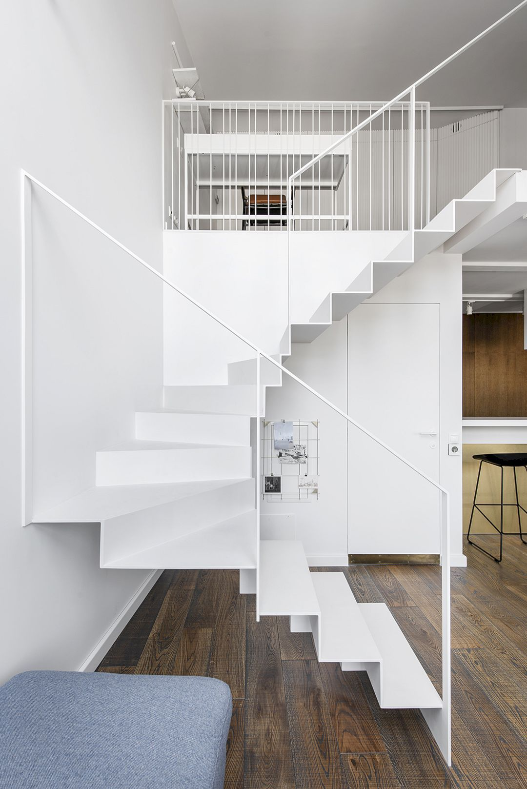 White Apartment White Surface Of Modern Interior Design With