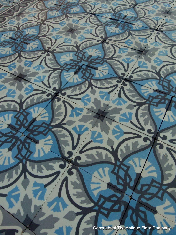 Large belgian antique ceramic encaustic ste ghislaine floor the large belgian antique ceramic encaustic ste ghislaine floor the antique floor company doublecrazyfo Image collections