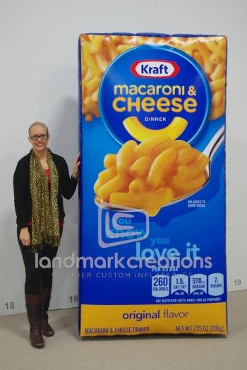 Who's hungry? -- Check out this #inflatable macaroni & cheese box!