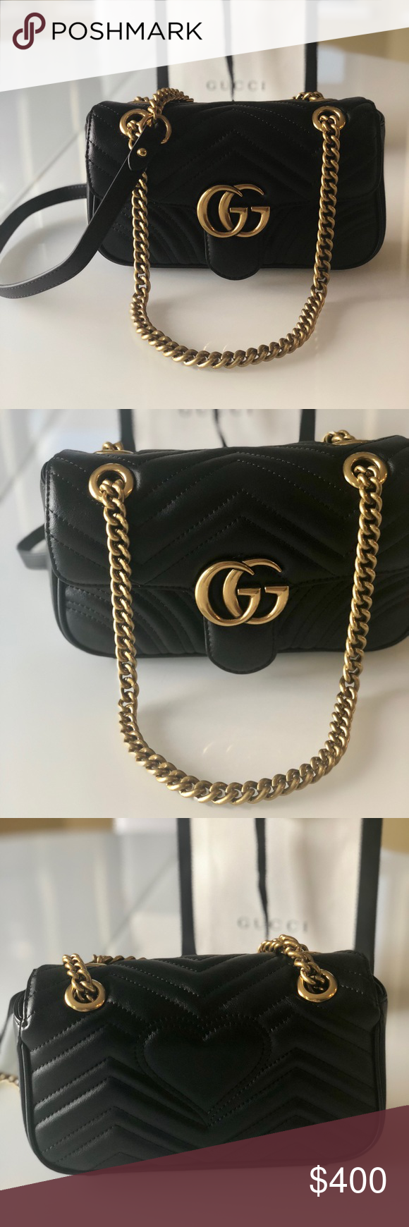 934e8c3aebf Gucci Bag Marmont The most popular Gucci bag! Genuine Leather! Excellent  condition! Worn just once!!! Gucci Bags Mini Bags