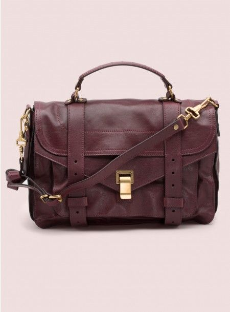 PS1 Medium Leather Bag, Burgundy - Proenza Schouler