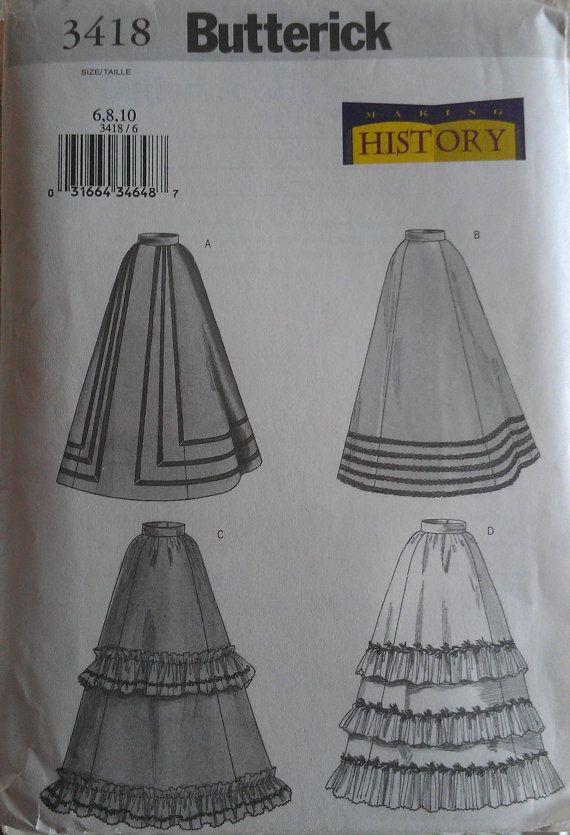 Making History Edwardian Titanic Era Flounced Layered Tiered Skirt ...