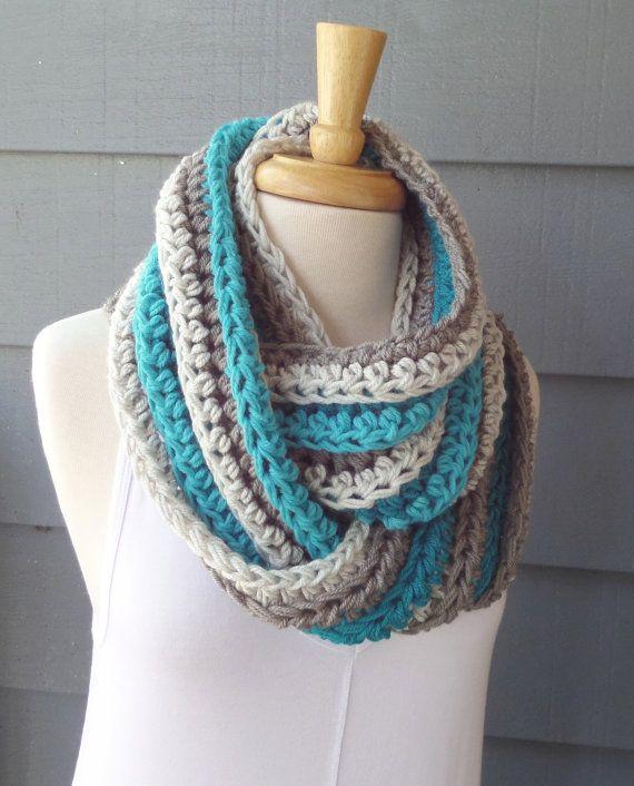 PATTERN S-086 / Crochet Pattern / Adalene Infinity ... worsted 120 ...