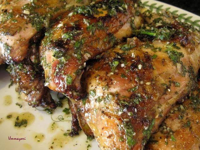 Grilled Chicken with Lemon-Garlic Oil