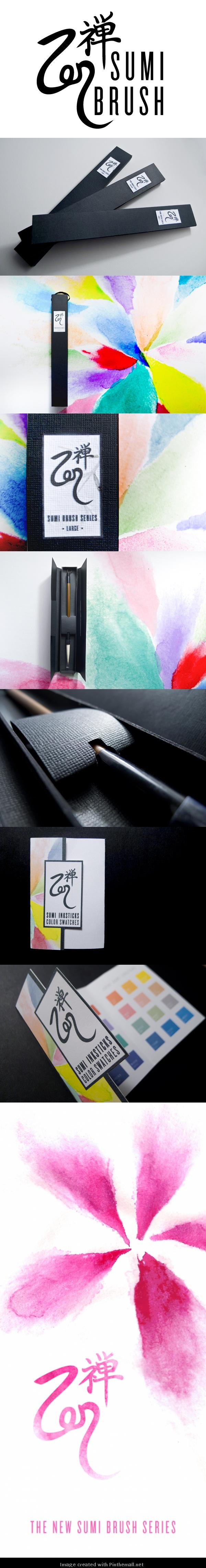 Zen sumi brush packaging concept