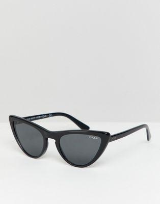 c5d85592b0 Vogue Eyewear 0VO5211S cat eye sunglasses in black by Gigi Hadid in ...