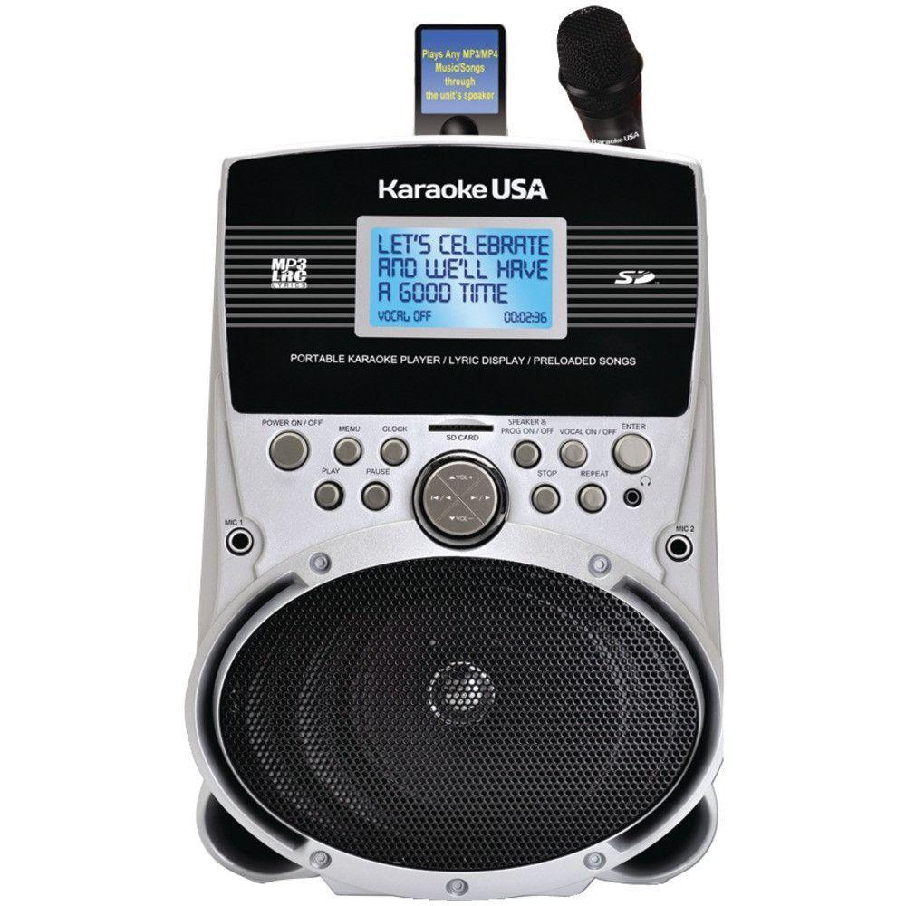 KARAOKE USA SD516 Portable Karaoke MP3 Lyric Player with 3