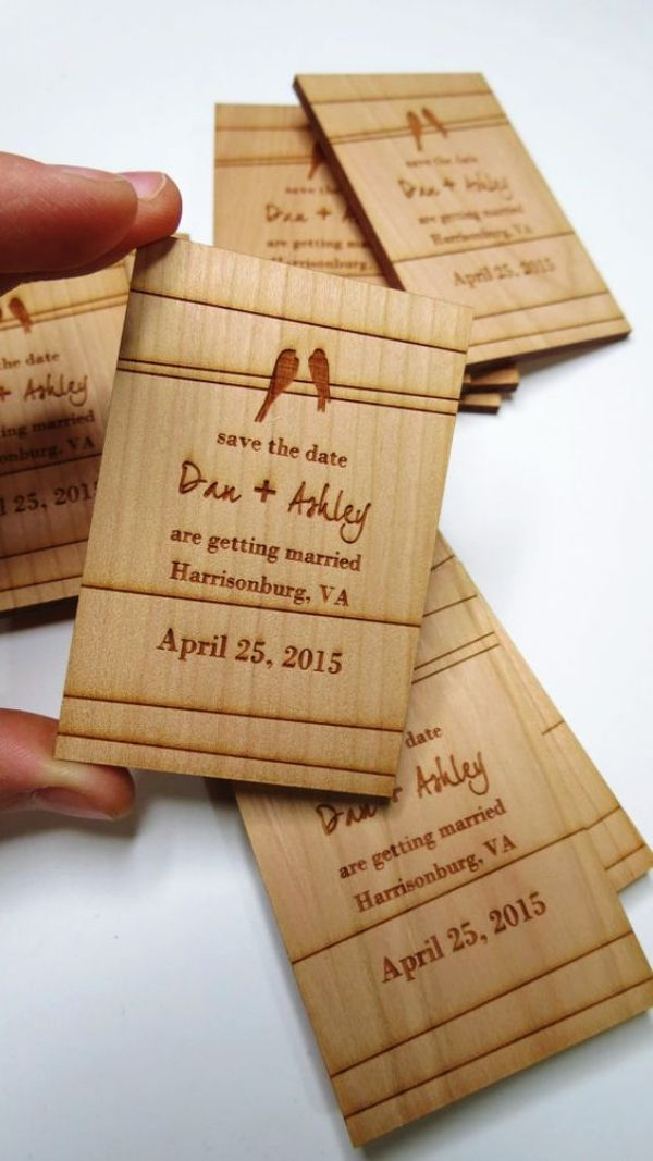 30 Creative Wedding Invitation Card Ideas Wood Wedding