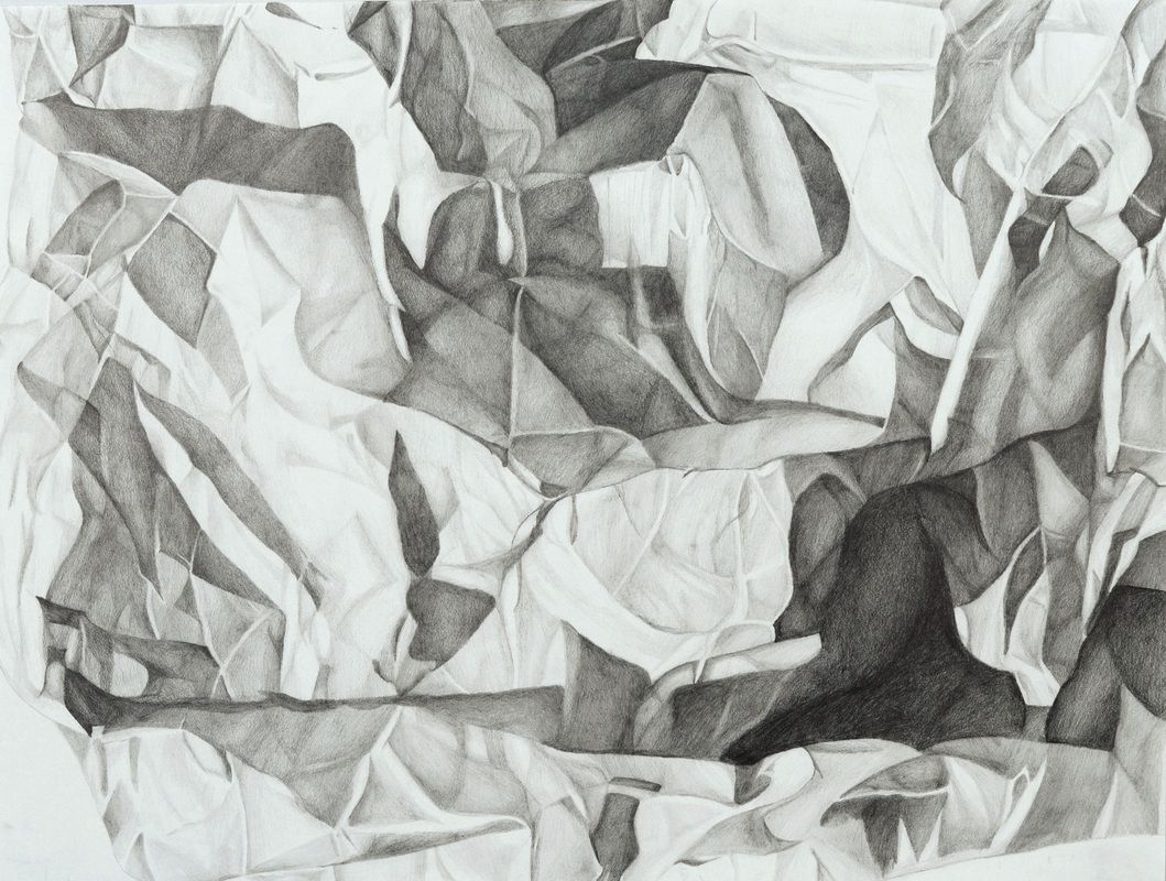 crumpled paper drawing - google search | art lessons in 2018
