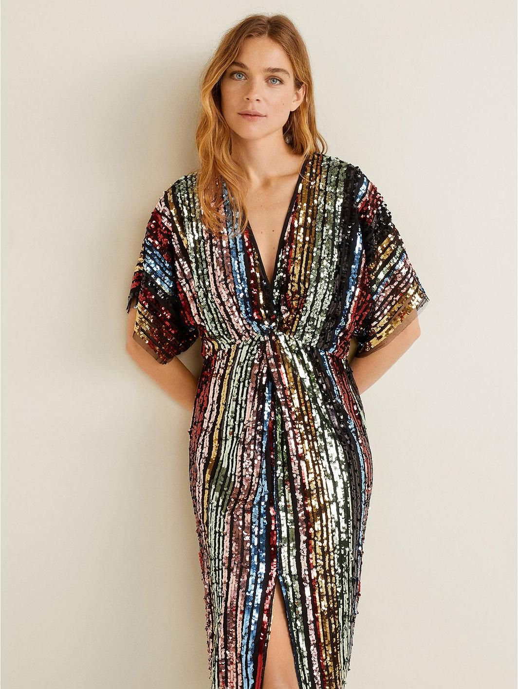 35f54230953d0 Mango Rainbow Sequin Dress - Multi in 2019 | clothes | Sequin Dress ...