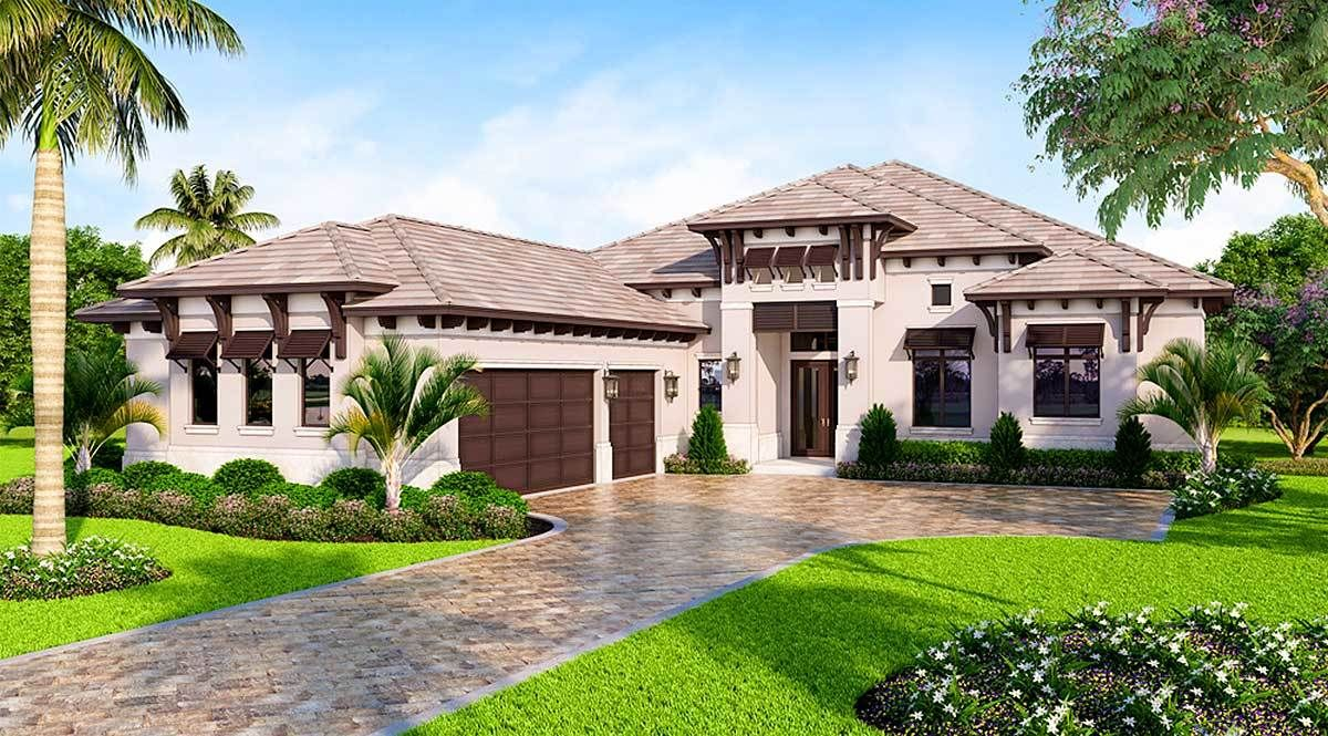 Plan 86053BW Southern Contemporary House Plan with