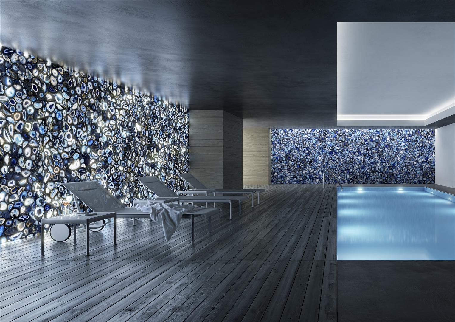 blue agate backlit walls. emotions – using style to amaze