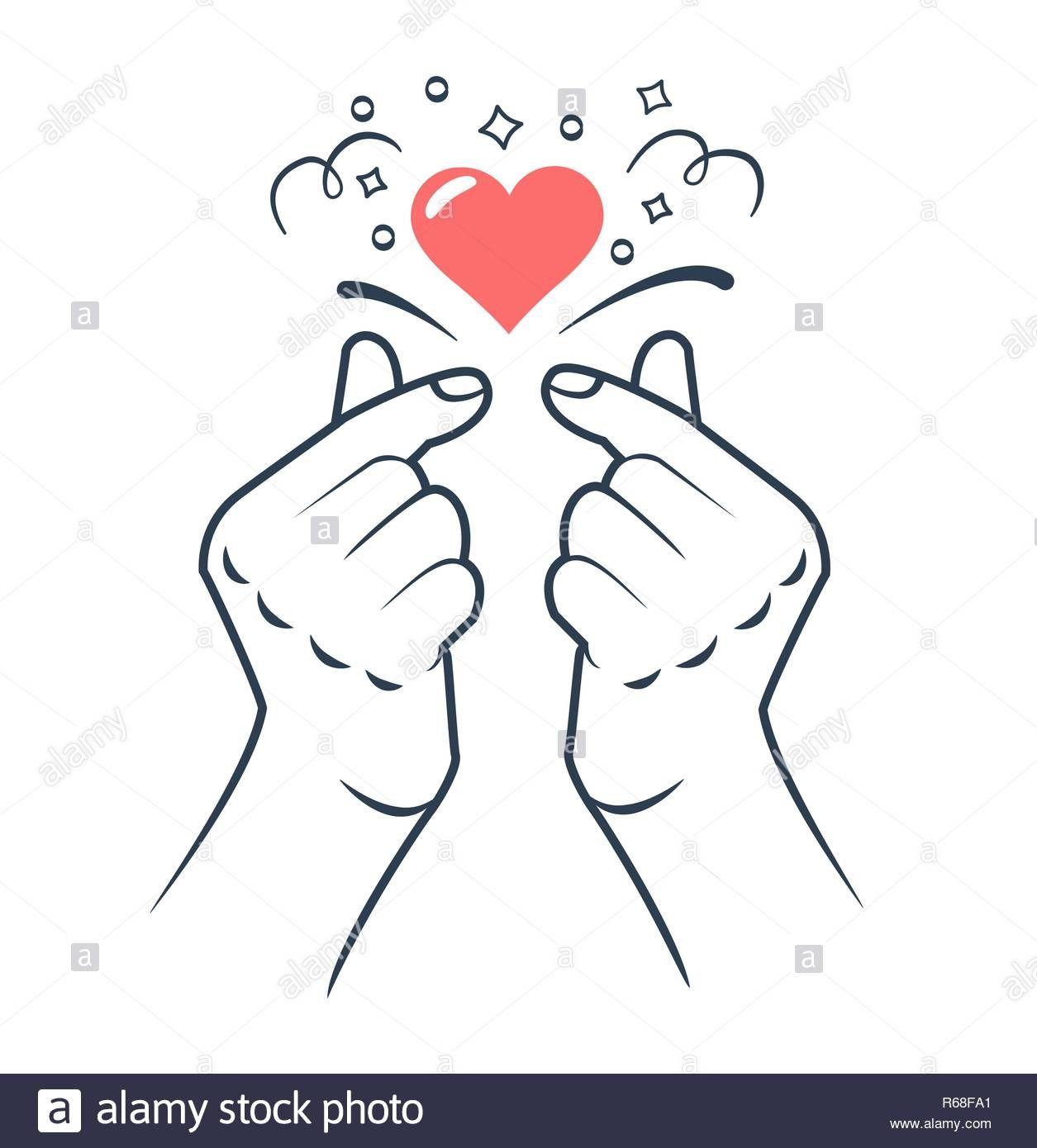 Descargar Este Vector Mano Haciendo Signo Del Corazon Coreano Signo De Amor Simbolo Del Corazon Y El Am Signos De Amor Iconos De Amor Corazones Para Dibujar