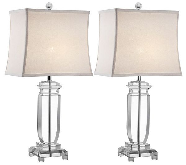 Set Of 2 Olympia Crystal Table Lamps By Valerie Qvc Com Lamp Crystal Table Lamps Table Lamp Sets Set of two table lamps