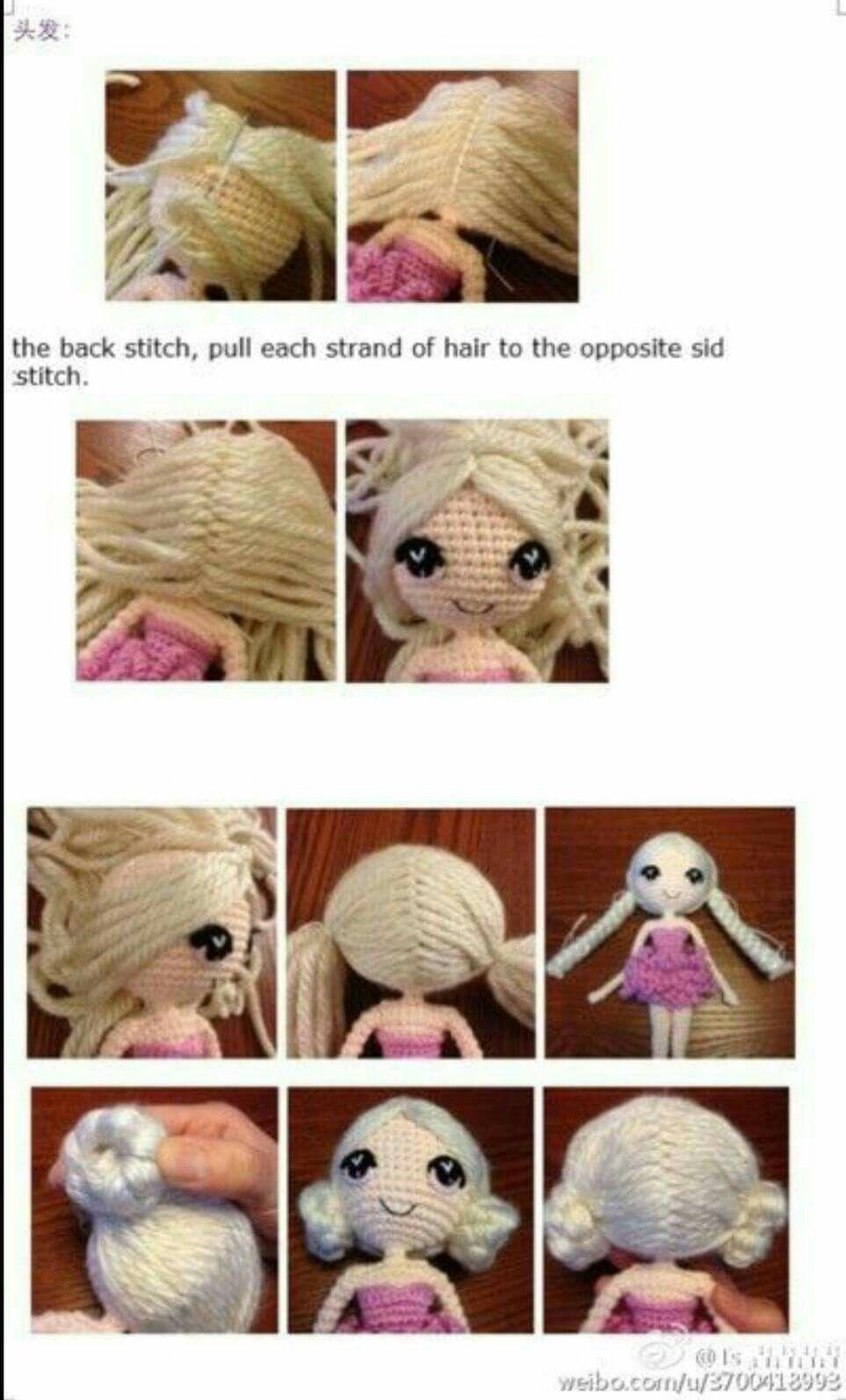 Pin de Giselle tolosa en crochet | Pinterest | Muñecas, Muñecos de ...