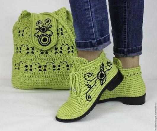 Pin von Carola Lemus auf mis cosas | Pinterest | Schuhe häkeln ...