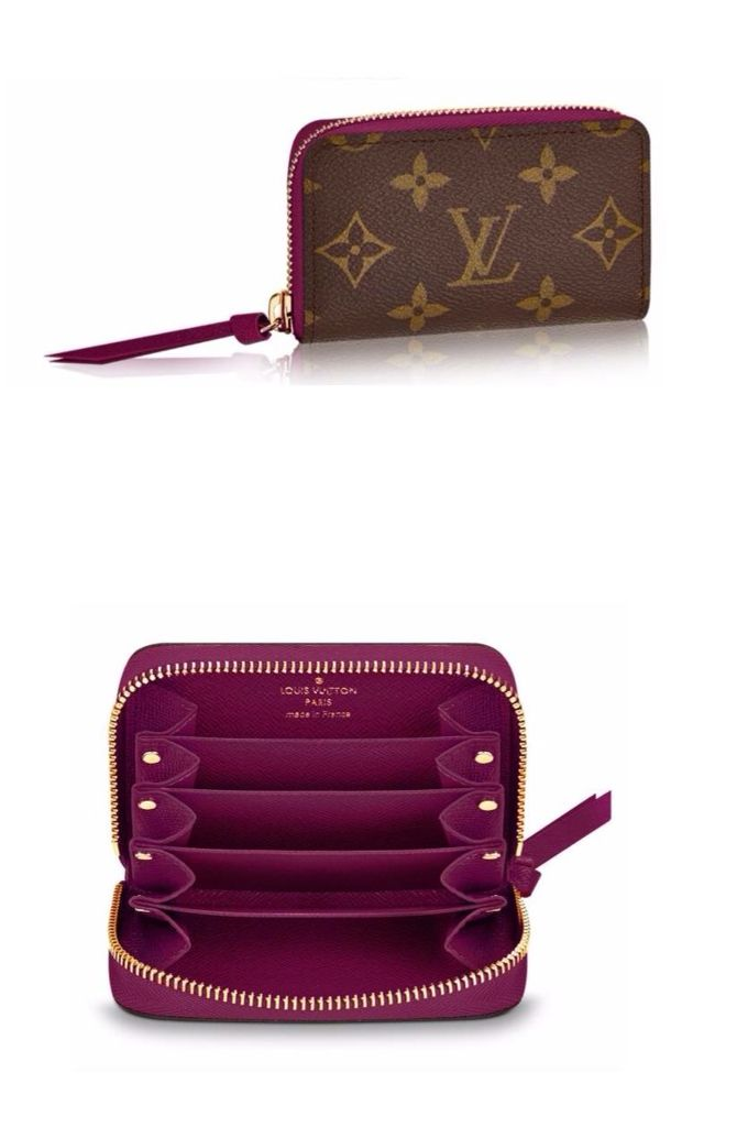 Valentino Ladies Small Soft Fuchsia Leather Purse Pouch Purse RFID Blocking