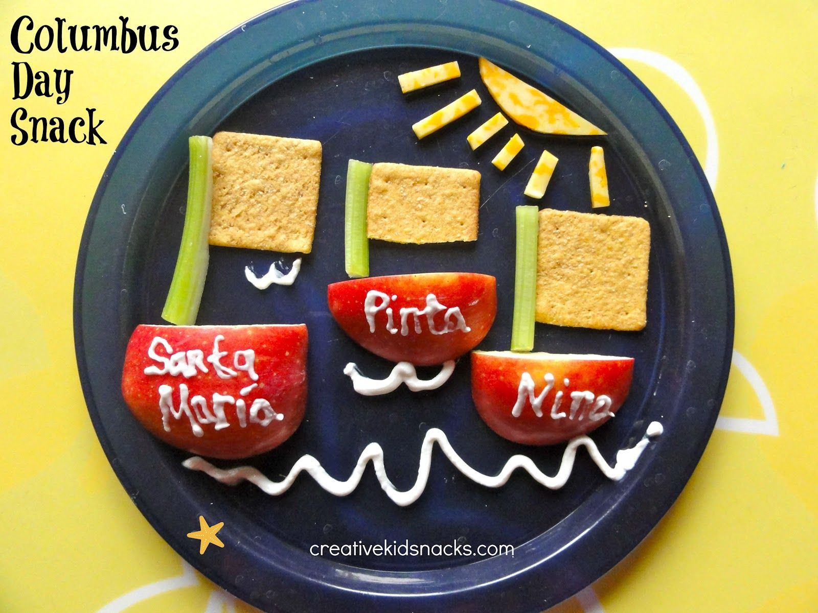Kitchen Fun Creative Kid Snacks Columbus Day Snack Creative Kids Snacks Kids Snacks Columbus Day