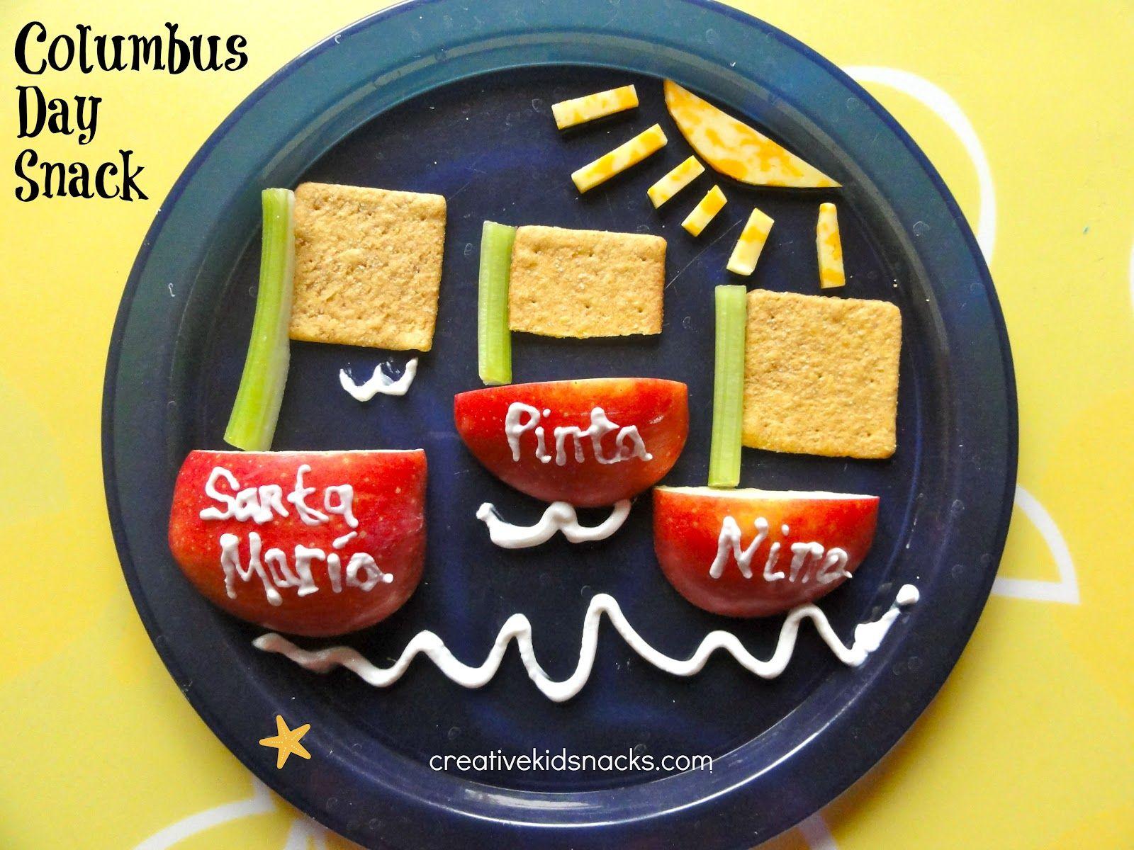 Creative Kid Snacks Columbus Day Snack