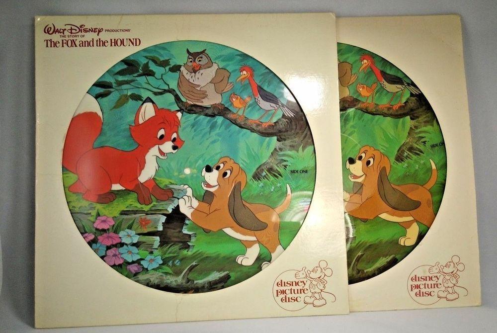 Sold The Fox And The Hound Disney Picture Disc Vinyl Lp Disneyland Records Album Fairytale Disney Pictures The Fox And The Hound Disneyland