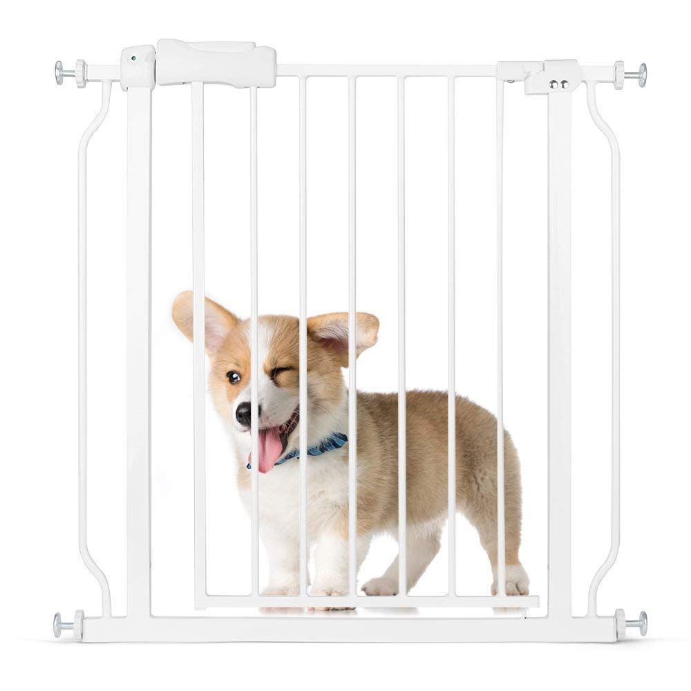 Delxo Multi Use Metal Pet Gate Baby Gate 22 Wide Opening Easy Walk