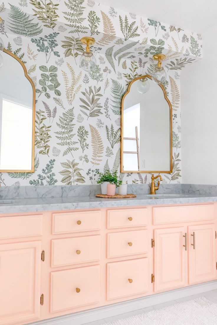 Photo of Floral Bathroom Remodel REVEAL | Lombard and Fifth