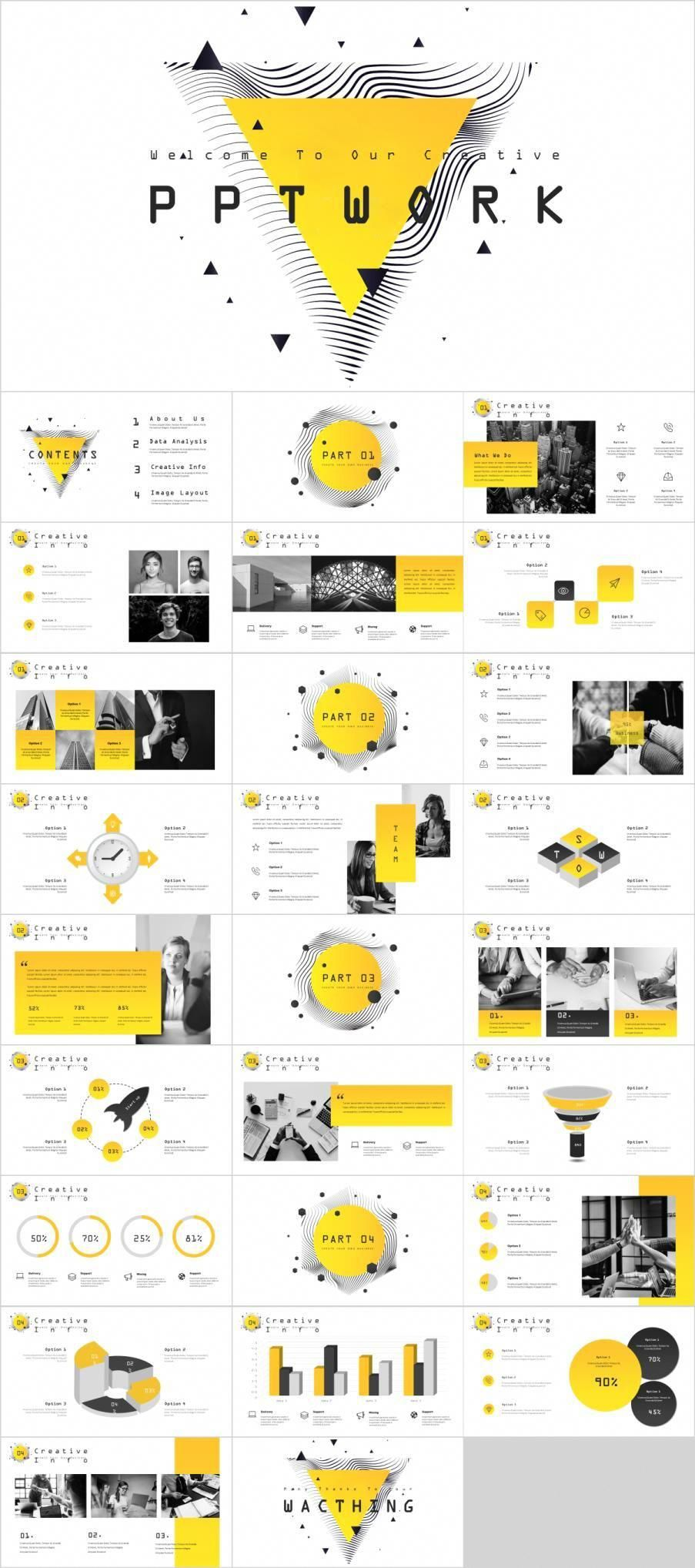 Yellow Creative swot Powerpoint Template