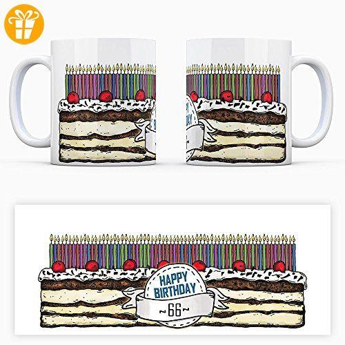 Geburtstagstorten Kaffeebecher Zum 66 Geburtstag 66 Jahre Tasse