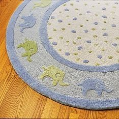 Elephant Nursery Rug Baby Elephants Homedecor Theme