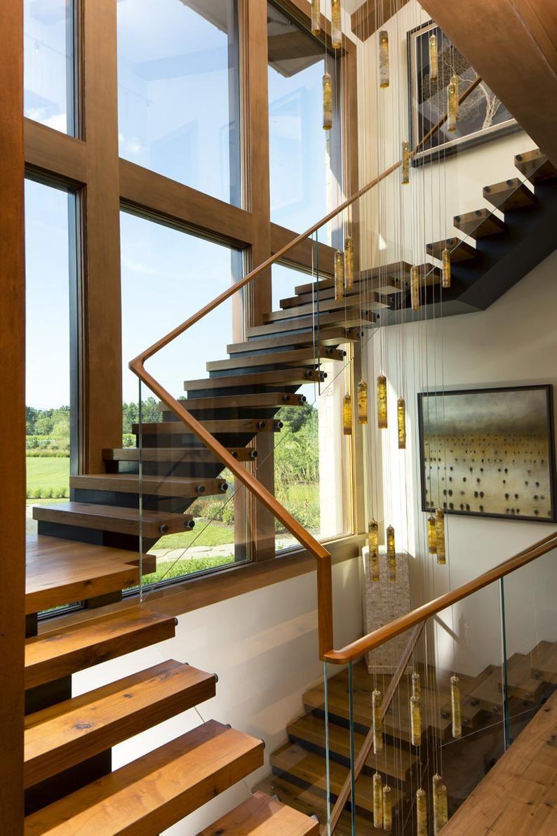 Multi-story-staircase-chandelier led,Contemporary multi level foyer chandelier RAINFALL – two story pendant lighting, milk glass chandelier