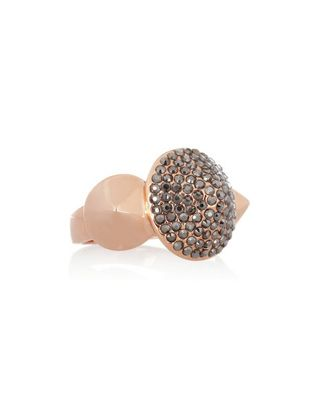 Eddie Borgo • Rose gold-plated crystal cone ring