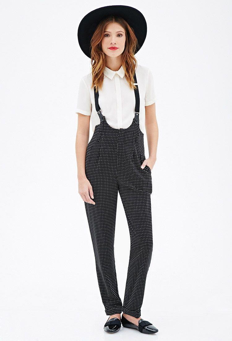 e3cd33c0d Polka Dot Suspender Overalls