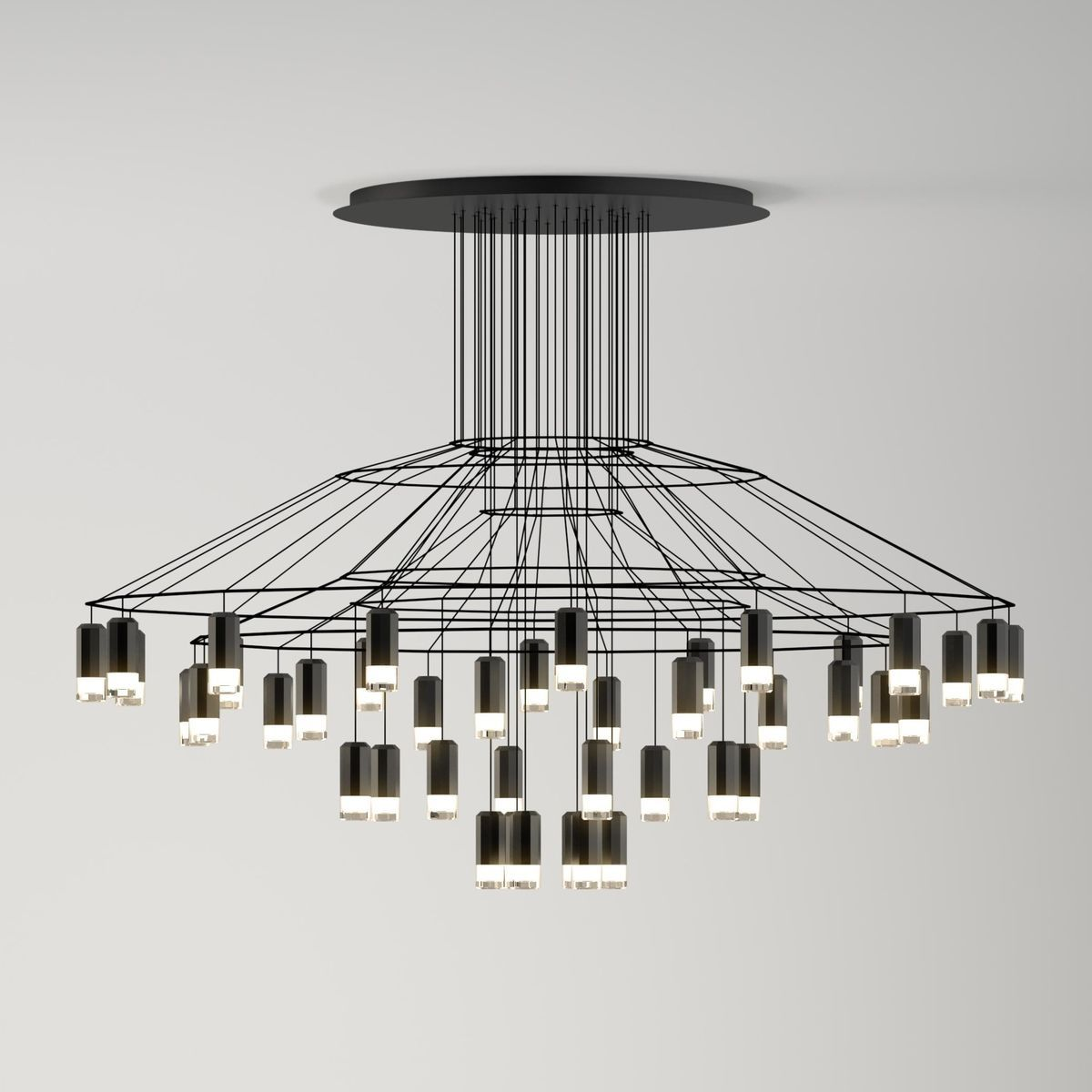 Wireflow Chandelier 0376 Led Suspension Lamp Led Pendelleuchte Led Pendelleuchte