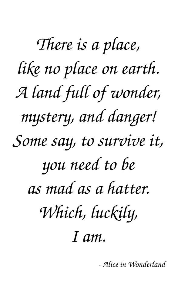 Alice In Wonderland Quotes Amazing 48 Inspiring Alice In Wonderland Quotes Bonkers Crazy Mad