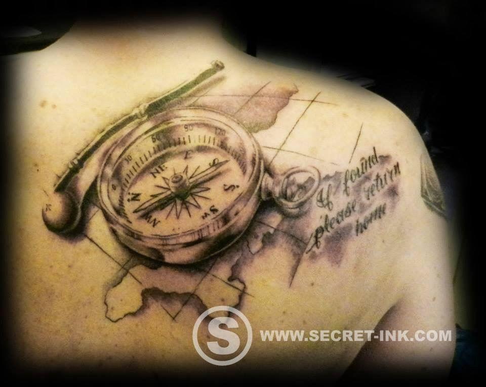 Compass Tattoo Line Drawing : Best compass tattoo flash ideas styles sperr