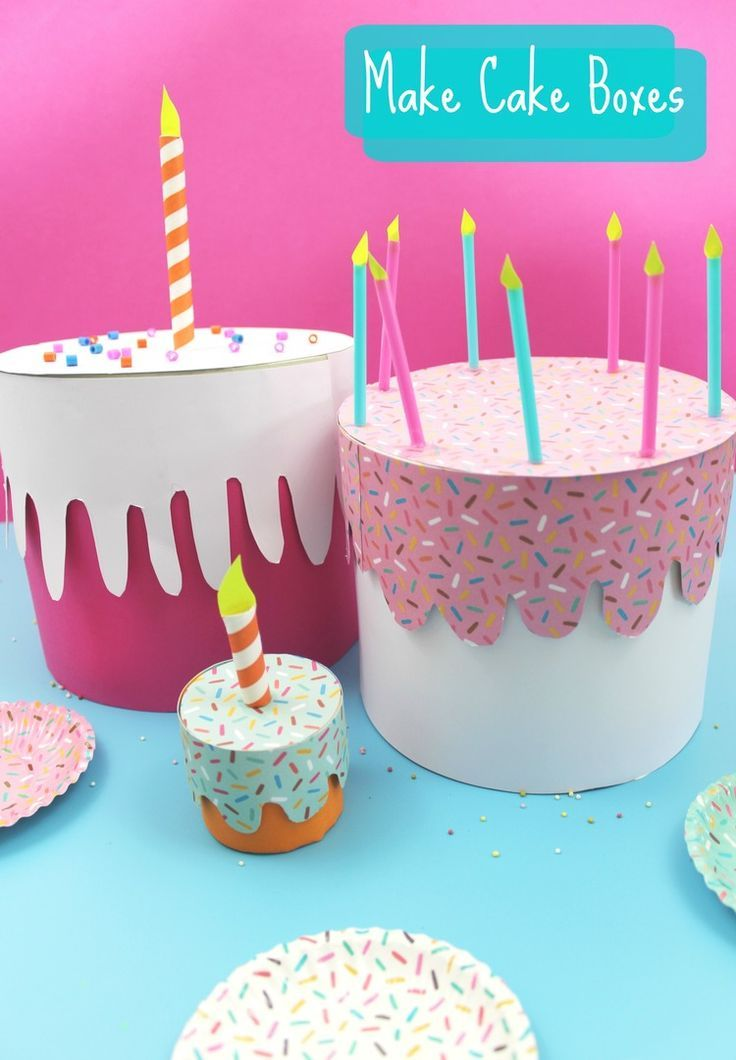 How To Make Birthday Cake Boxes Kids Arts Crafts Pinterest