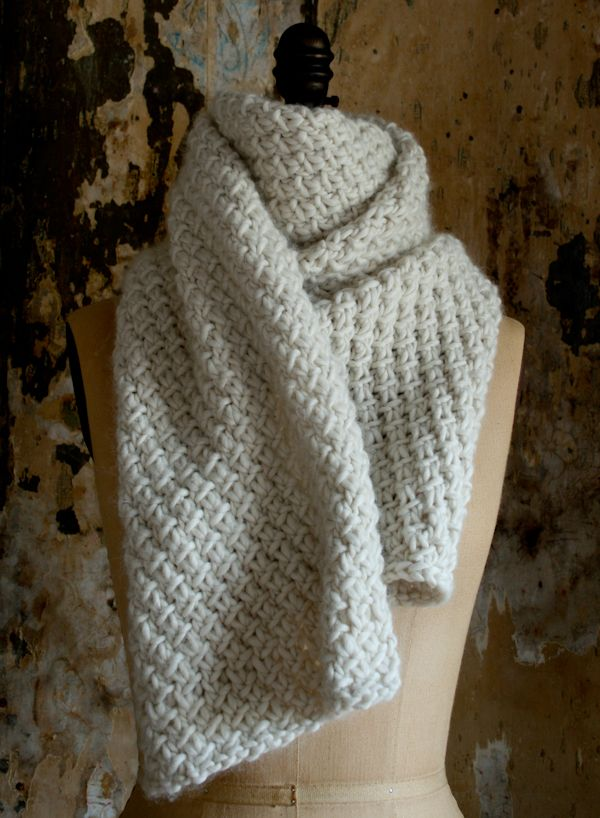 Super Soft Merino Snowflake Scarf - The Purl Bee - Knitting ...