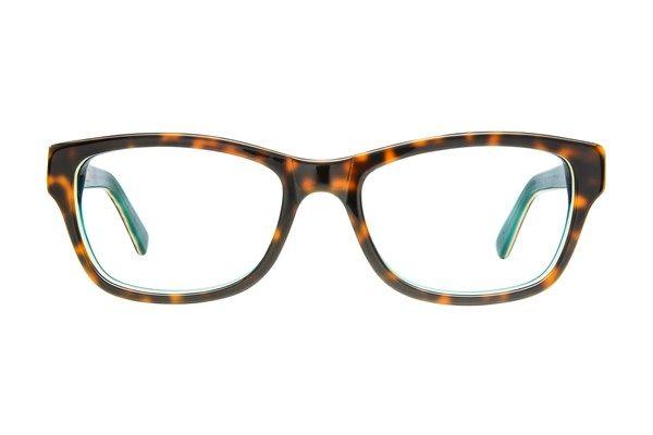 ef5419d64c2 Christian Siriano Siriano Gigi Eyeglasses Tortoise Turq